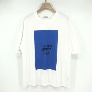 ジルサンダー(Jil Sander)のJIL SANDER 21ss Tシャツ コットン ホワイト プリント(Tシャツ/カットソー(半袖/袖なし))