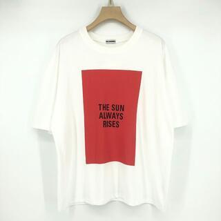 ジルサンダー(Jil Sander)のJIL SANDER 21ss Tシャツ コットン ホワイト プリント L(Tシャツ/カットソー(半袖/袖なし))