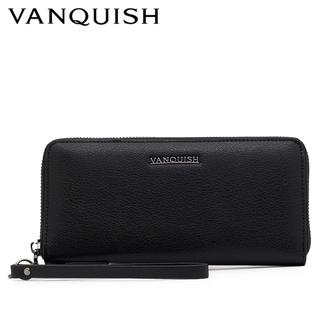 VANQUISH - ヴァンキッシュ  長財布 ブラック 牛革