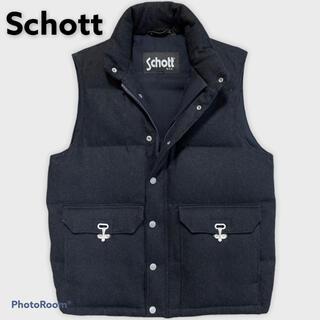 ショット(schott)のSchott ショット 上野商会 3132040 ダウンベスト グレー M(ダウンベスト)