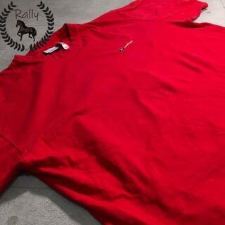 B237 古着/半袖/Tシャツ/リーボック/ワンポイント/刺繍/ビッグシルエット(Tシャツ/カットソー(半袖/袖なし))