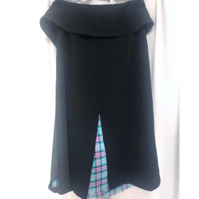 mame(マメ)のakane utsunomiya ベルト付きチェックスカート レディースのスカート(ロングスカート)の商品写真
