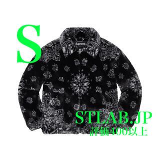 シュプリーム(Supreme)の黒 S Supreme Bandana Fur Bomber Jacket(その他)