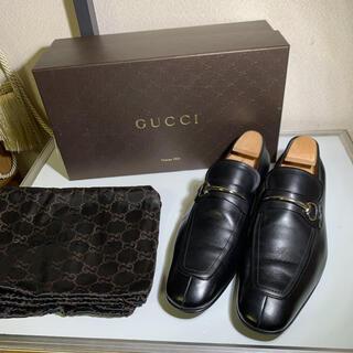 グッチ(Gucci)の美品 GUCCI グッチ ドレスシューズ  ビットローファー ブラック(ドレス/ビジネス)
