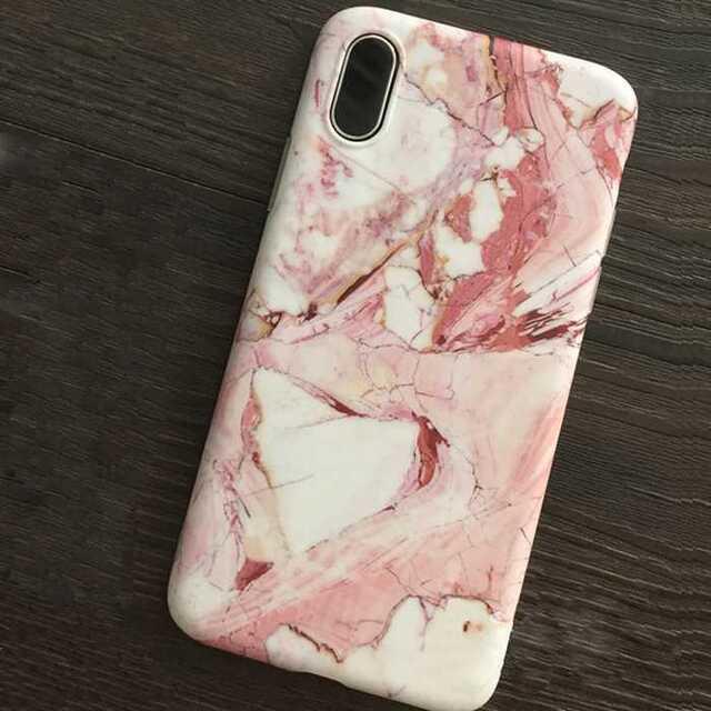 マーブル柄 iPhoneケース iPhone XS , X 携帯 スマホケース スマホ/家電/カメラのスマホアクセサリー(iPhoneケース)の商品写真