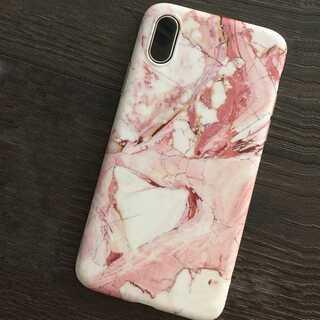 マーブル柄 iPhoneケース iPhone XS , X 携帯 スマホケース