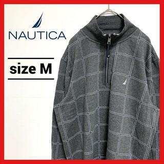 ノーティカ(NAUTICA)の90s 古着 ノーティカ スウェットトレーナー プルオーバー ハーフジップ(スウェット)