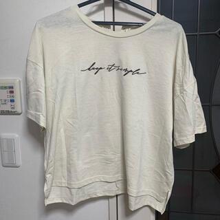 オリーブデオリーブ(OLIVEdesOLIVE)のOLIVE des OLIVE Tシャツ リボン ホワイト プルオーバー(Tシャツ(半袖/袖なし))