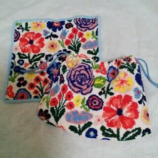 FEILER - ラブラリーバイフェイラースプリングギフト マチ付き巾着とハンカチセット