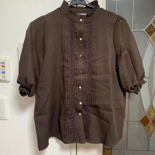 オリーブデオリーブ(OLIVEdesOLIVE)のOLIVE des OLIVE 茶色 ブラウン ブラウス(シャツ/ブラウス(半袖/袖なし))