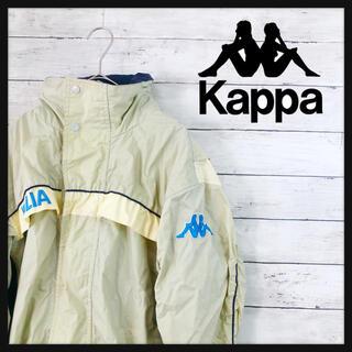 カッパ(Kappa)の90.s kappa カッパナイロンジャケット 古着カラークリームベージュ(ナイロンジャケット)
