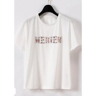 GRACE CONTINENTAL - ビーズ刺繍ロゴTシャツ グレースコンチネンタル