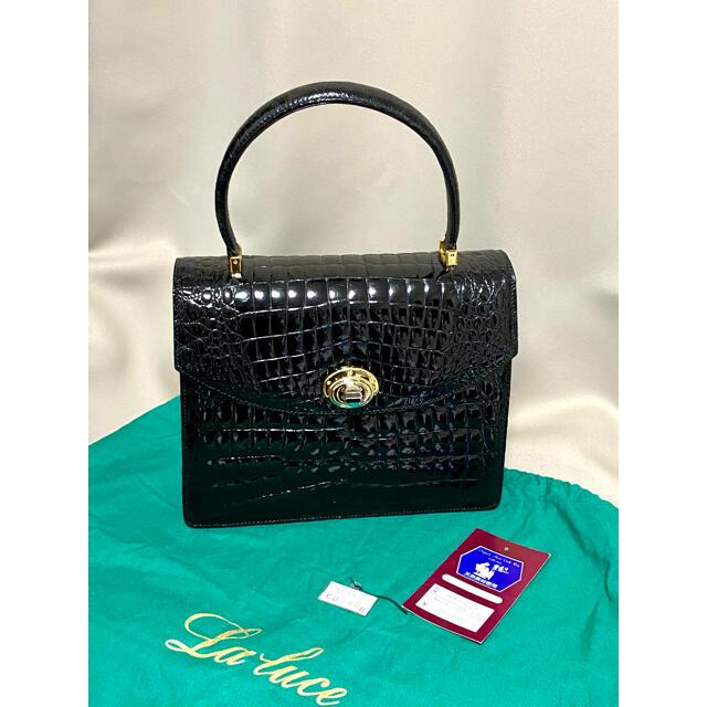 ✴︎美品✴︎ラルーチェ シャイニング クロコダイルレザー フォーマルバッグ レディースのバッグ(ハンドバッグ)の商品写真