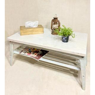 ローテーブル 机 アンティーク ヴィンテージ   テーブル エイジング DIY(ローテーブル)