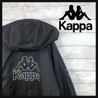 カッパ(Kappa)の90.s kappa ビック背面刺繍ロゴ 袖ラインロゴ ダウンコート(ダウンジャケット)