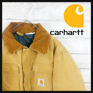 carhartt - 90.sカーハート ミリタリーダックジャケット 襟元コーデュロイ仕様レア古着