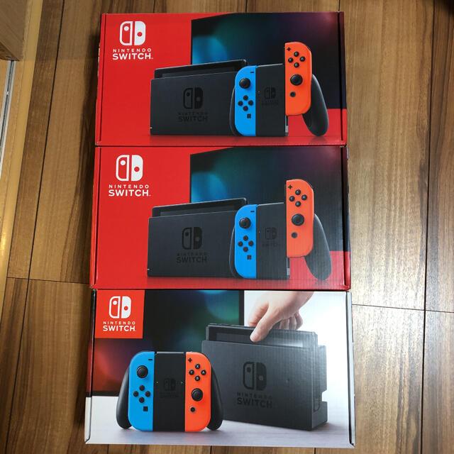 Nintendo Switch(ニンテンドースイッチ)の【3箱セット】Nintendo Switch任天堂スイッチ本体【即購入OK】 エンタメ/ホビーのゲームソフト/ゲーム機本体(家庭用ゲーム機本体)の商品写真