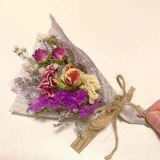 ドライフラワー 春色スワッグ 82 ブーケ 花束
