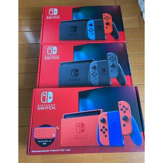 Nintendo Switch - Switchグレー、ネオンブルー/ネオンレッド、マリオ レッド×ブルー