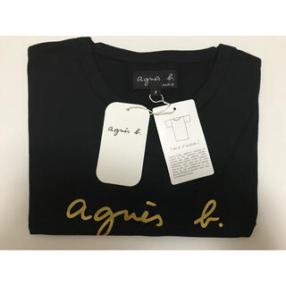 agnes b. - Tシャツ ブラック✖️ゴールド 【新品未使用】