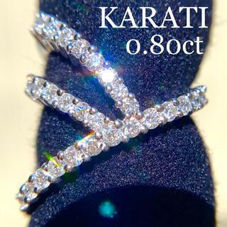 レア!カラッチ 0.80ct 18KWG ダイヤ モンド リング 鑑定書なし(リング(指輪))