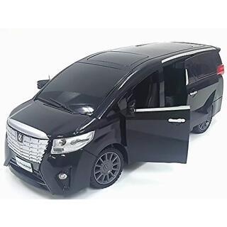 トヨタ アルファード ラジコンカーR/Cブラック 電動スライドドア搭載! 新品