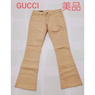 Gucci - GUCCI 極美品 チノパン ズボン パンツ ボトム ベージュ レザー グッチ
