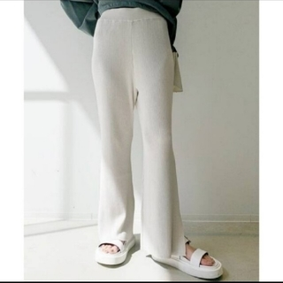 L'Appartement DEUXIEME CLASSE - L'Appartement Slit Rib Pants◇36