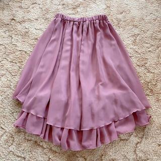 シマムラ(しまむら)のしまむら スカート ピンク(ひざ丈スカート)