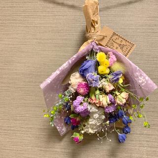 ドライフラワー 春色スワッグ 花束 スターチス(ドライフラワー)