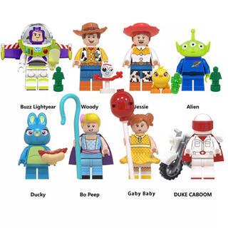 トイストーリー4 ミニフィグ レゴ LEGO 互換 フィギュア 人形  8ピース