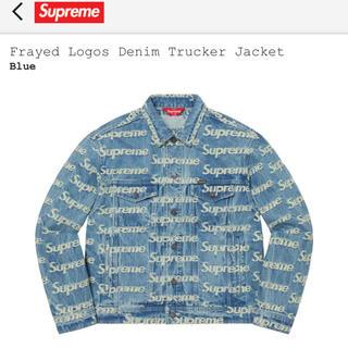 シュプリーム(Supreme)のL Frayed Logos Denim Trucker Jacket Blue(Gジャン/デニムジャケット)