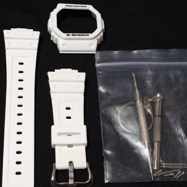 ジーショック DW-5600用 交換用 互換品 ベゼル、ベルト メンズの時計(ラバーベルト)の商品写真