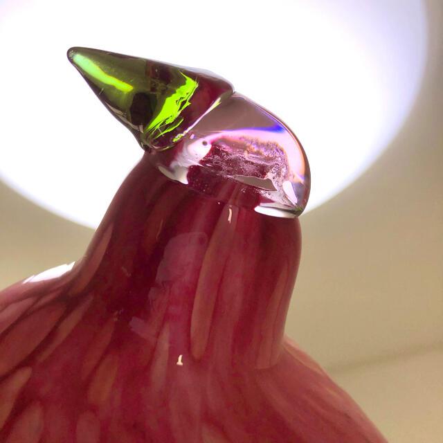 iittala(イッタラ)のオイバトイッカ pine grossbeak male ピンク バード インテリア/住まい/日用品のインテリア小物(置物)の商品写真