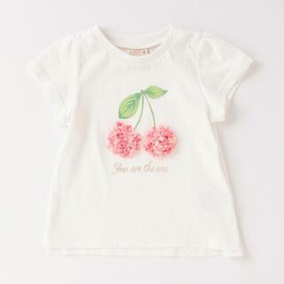 petit main - プティマイン さくらんぼ Tシャツ 130