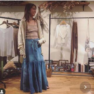 ファビアンルー(Fabiane Roux)のnowos デニムスカート Sサイズ(ロングスカート)