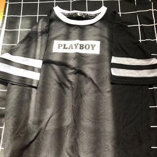 プレイボーイ(PLAYBOY)のTシャツPLAYBOY(黒)L(Tシャツ(半袖/袖なし))