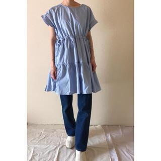 Lochie - (61) 古着屋購入 used vintage 水色 ミニ ワンピース 韓国