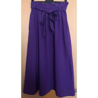 バックナンバー(BACK NUMBER)のBACK NUMBER リボン付きスカート 紫(ロングスカート)