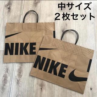 ナイキ(NIKE)の中サイズ 紙袋 2枚 ナイキ ショッパー 梱包資材 ナイキ紙袋 プレゼント包装(ショップ袋)