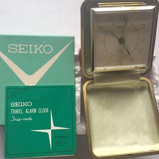 SEIKO - SEIKOトラベルアラーム 手巻き時計 赤 【デッドストック】