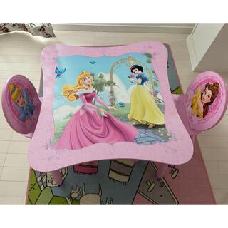 ディズニー(Disney)のディズニープリンセス デスク&チェアセット 女の子 かわいい お姫様 子供(学習机)