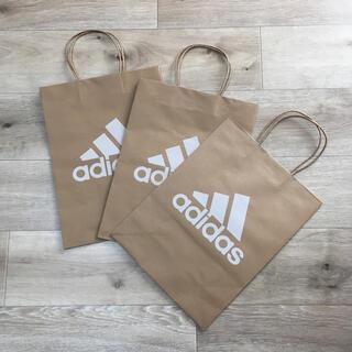 アディダス(adidas)のアディダス 中サイズ 3枚セット ショップ紙袋 adidas ショッパー 紙袋(ショップ袋)