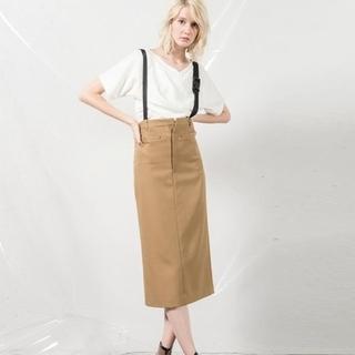 アウラアイラ(AULA AILA)のアウラ サロペットスカート(ひざ丈スカート)