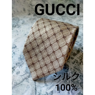 Gucci - 【美品】シルク100% グッチ ネクタイ ロゴ