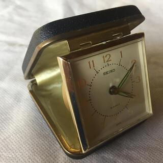 セイコー(SEIKO)のSEIKO セイコー 手巻きトラベルアラーム時計 黒(置時計)