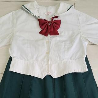 中古半袖セーラーブラウス+グリーンスカート(衣装一式)