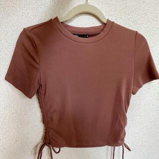 ザラ(ZARA)の新品ZARA ショート丈半袖カットソー(カットソー(半袖/袖なし))