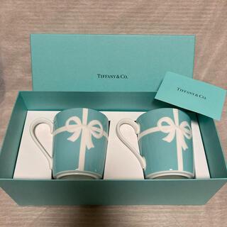 Tiffany & Co. - ティファニー ブルーボックス マグカップ 2個 新品 ブルーリボン リボン 食器