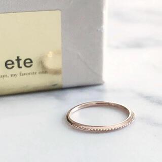 エテ(ete)の美品 ete エテ K10 PG デザイン ピンキーリング(リング(指輪))